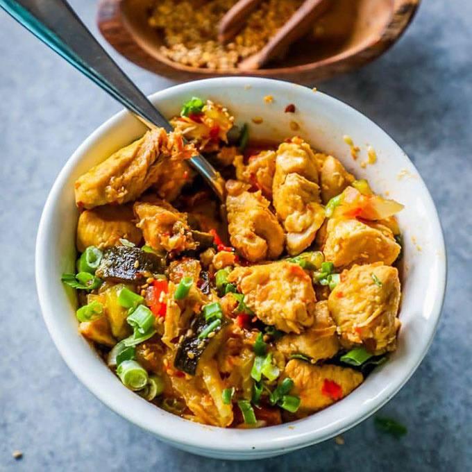 Instant Pot Paleo Kung Pao Chicken