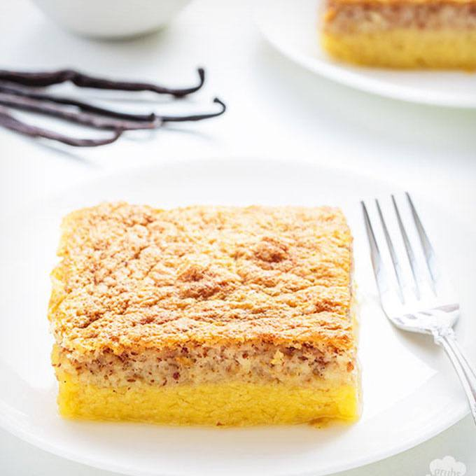 Magic Vanilla Custard Cake
