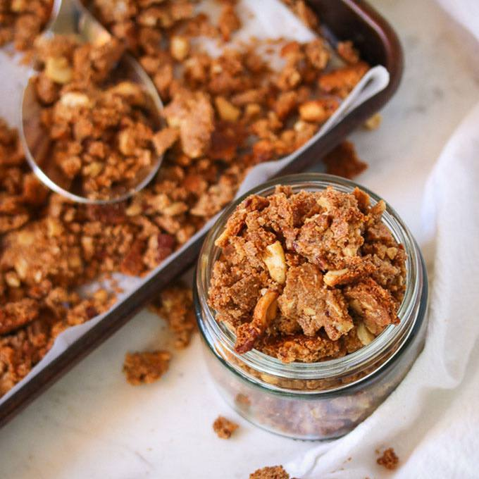 Maple Almond Butter Granola