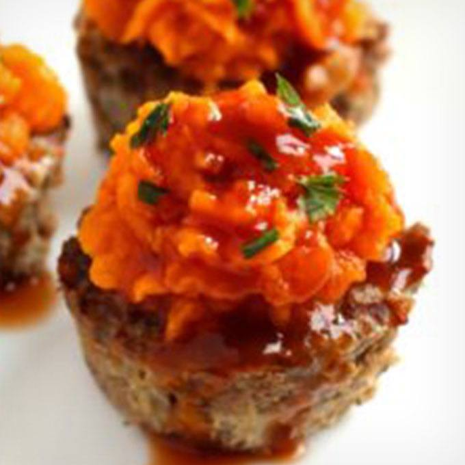 Meatloaf Sweet Potato Muffins (whole 30, Paleo, Gluten Free, Nut-free)