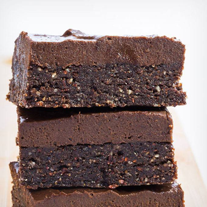 No Bake Double Chocolate Paleo Brownies