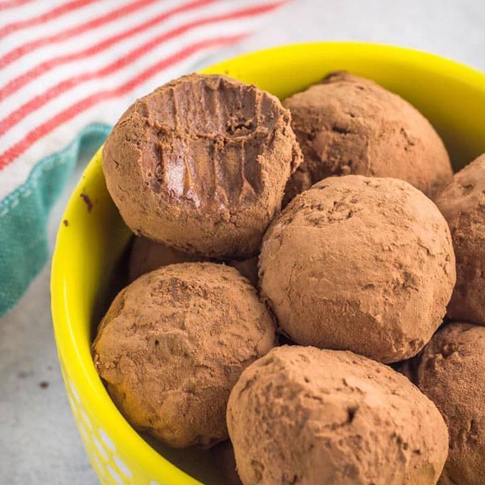 Nut-Free Brownie Batter Truffles