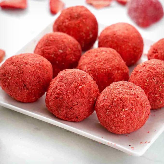 Nut Free Strawberry Bliss Balls