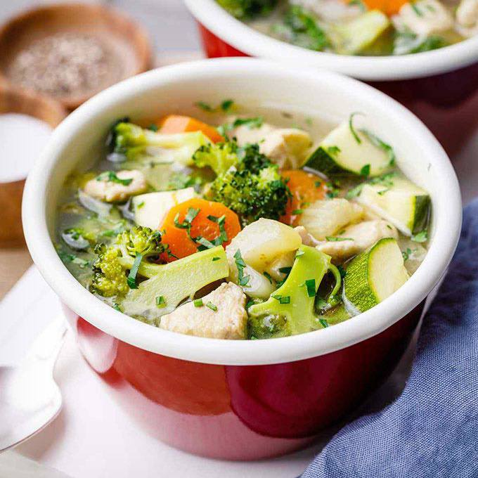 Paleo Chicken Vegetable Soup