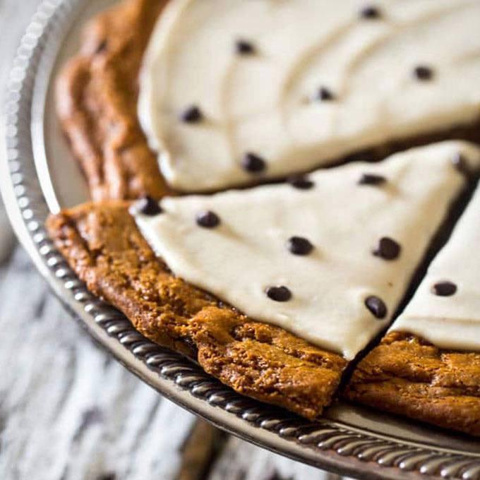 Paleo Cookie Pizza with Cashew Cream