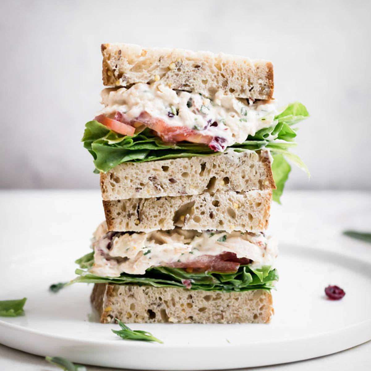 Paleo Cranberry Chicken Salad Sandwiches