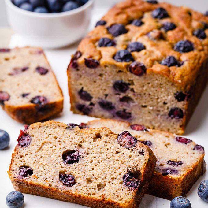 The Best Paleo Blueberry Banana Bread