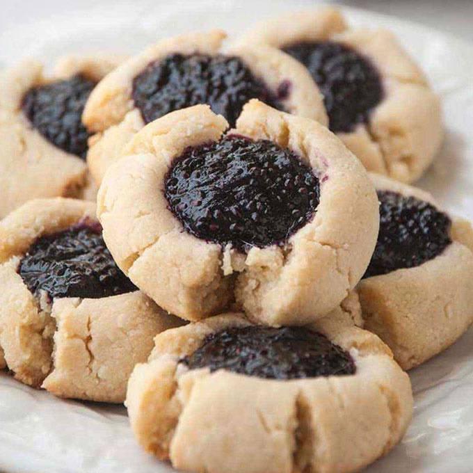 Thumbprint Cookies with Homemade Chia Jam