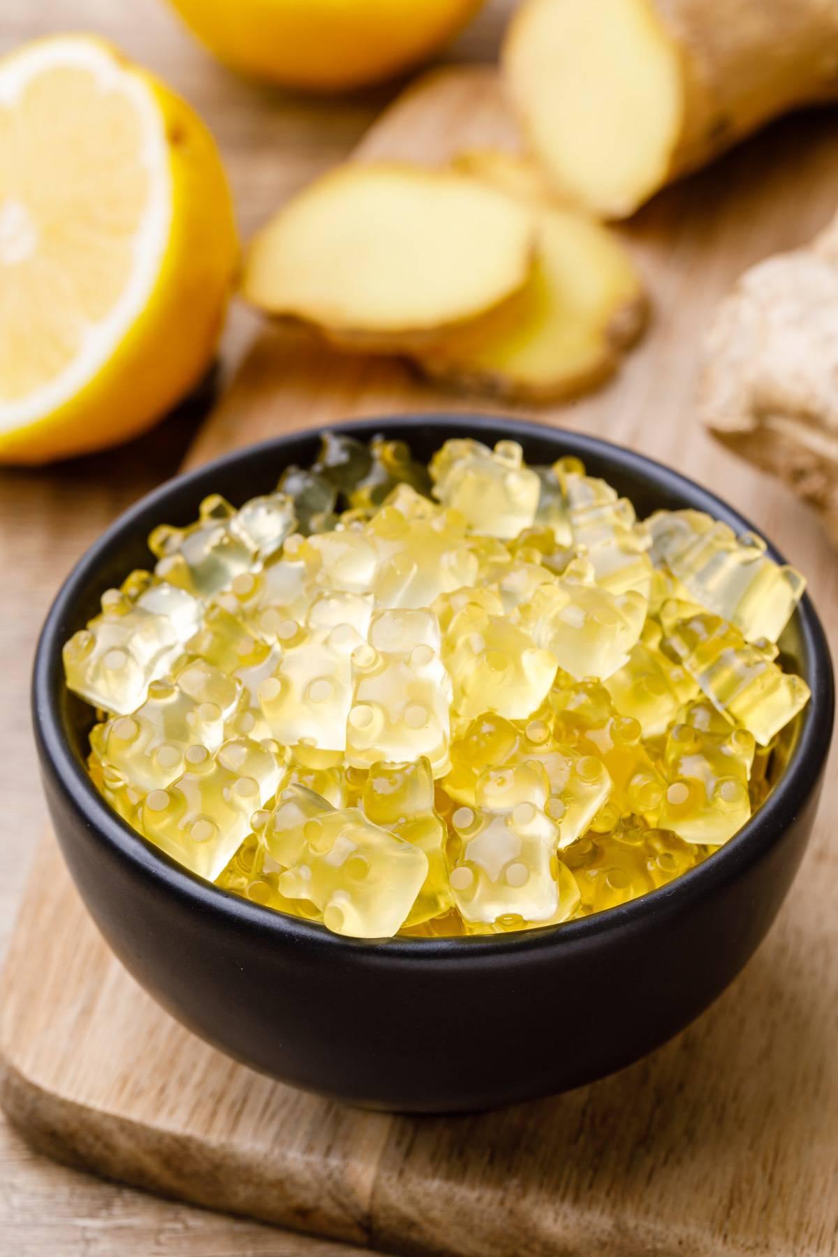 Apple Cider Vinegar, Lemon and Ginger Gummy Bears