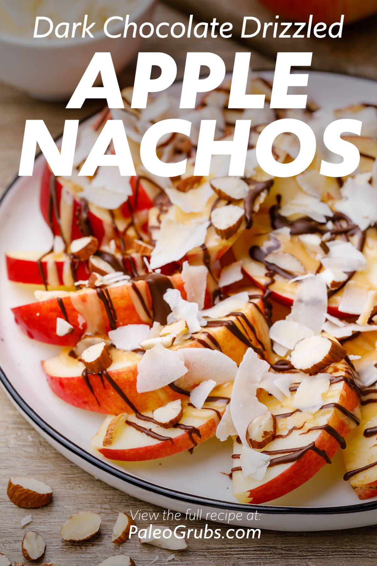 Dark Chocolate Drizzled Paleo Apple Nachos