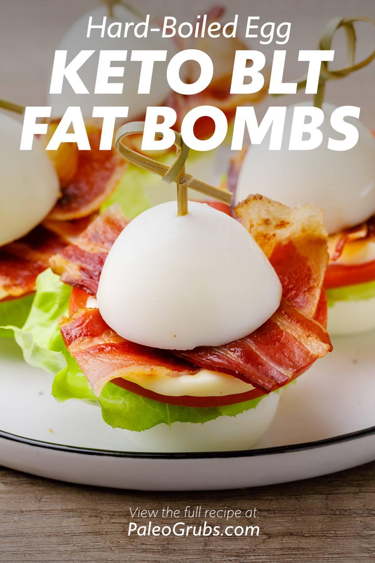 Hard-Boiled Egg BLT Keto Fat Bombs