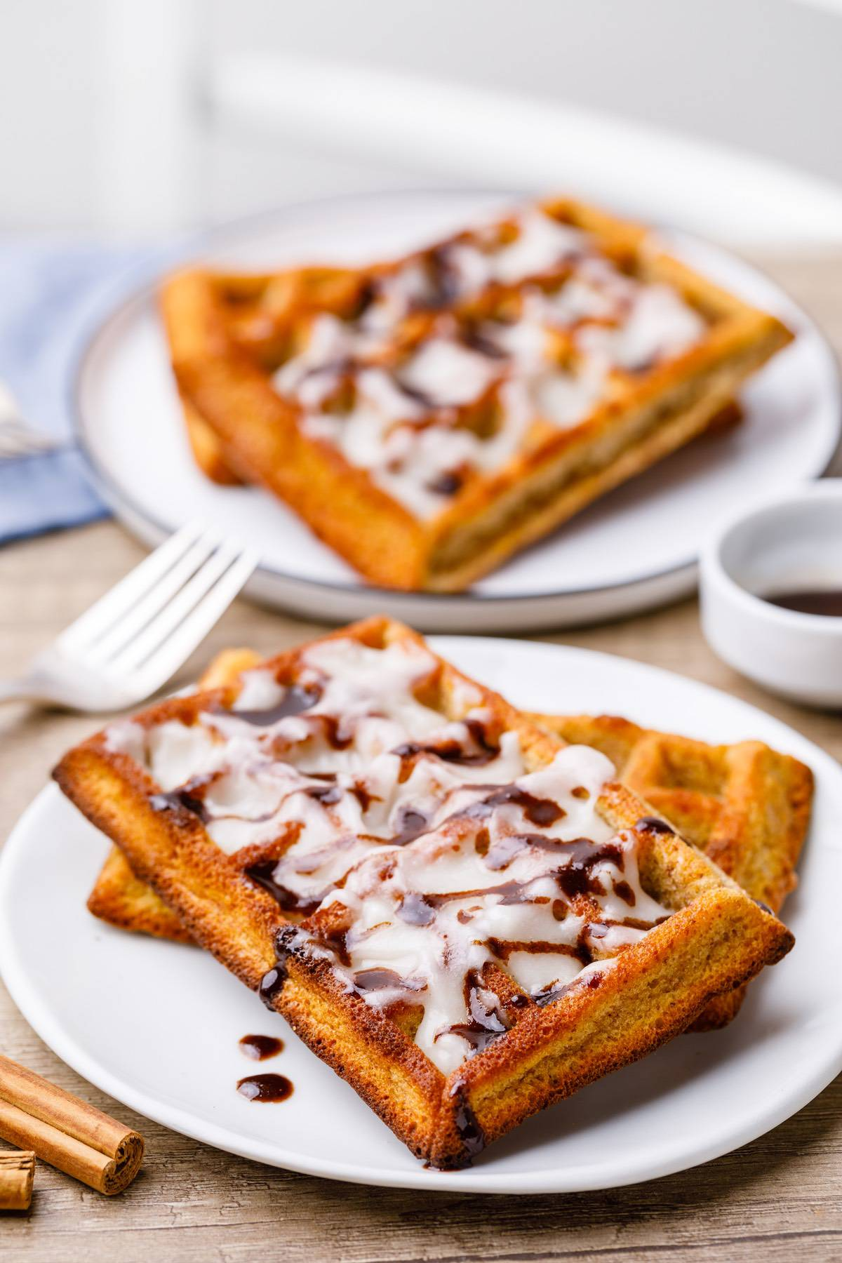 Home.fit cinnamon-roll-paleo-waffles-6 Crave-worthy Cinnamon Roll Paleo Waffles