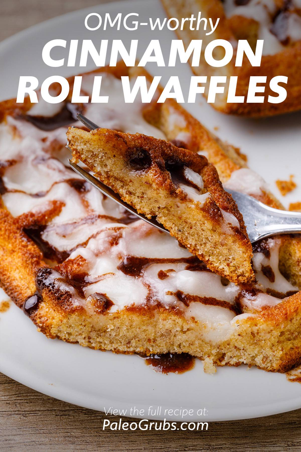 Crave-worthy Cinnamon Roll Paleo Waffles