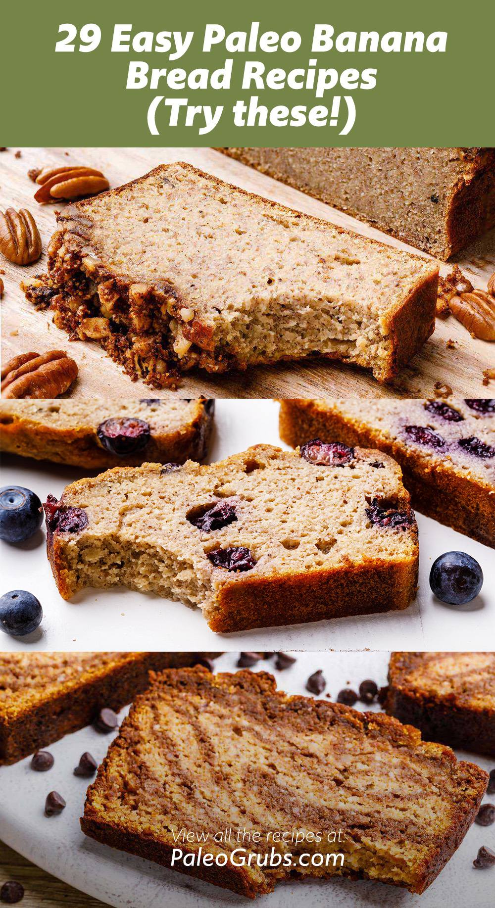 The best easy paleo banana bread recipes.