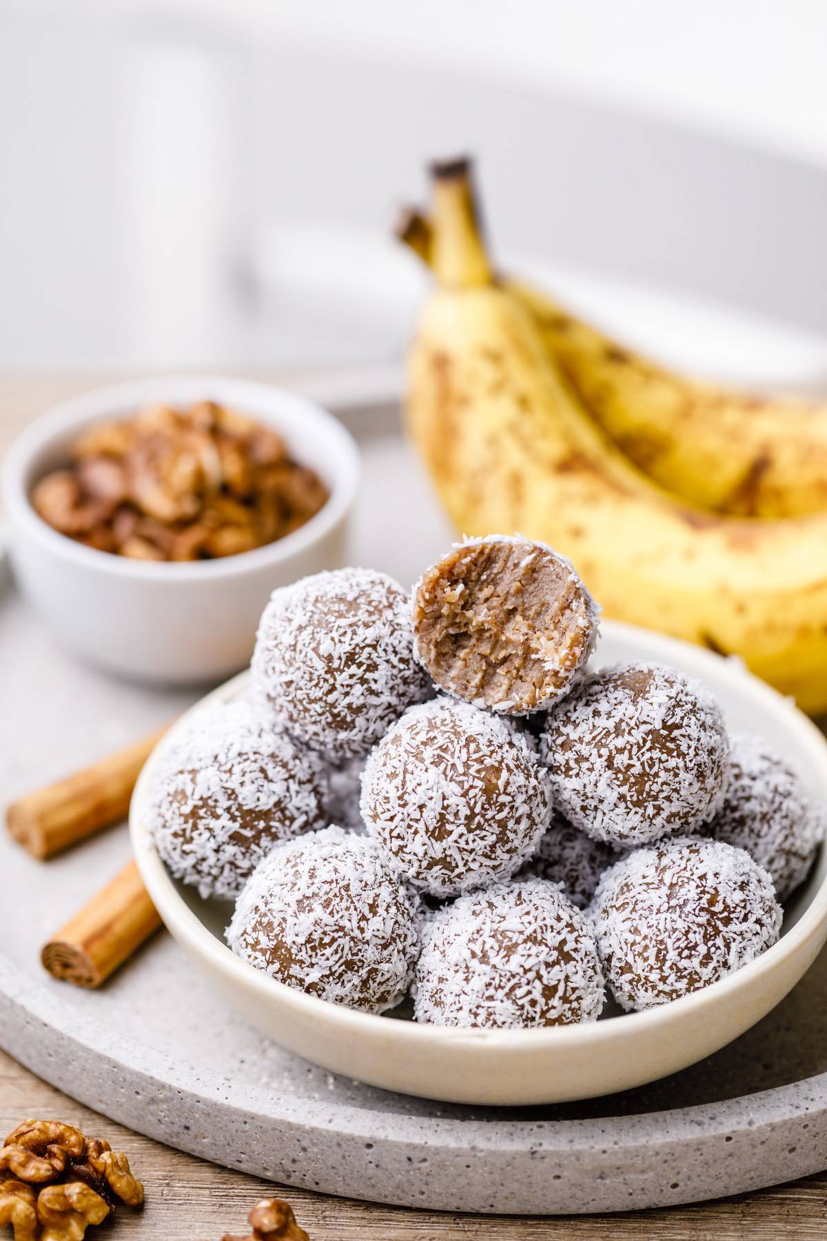 paleo banana muffin energy balls