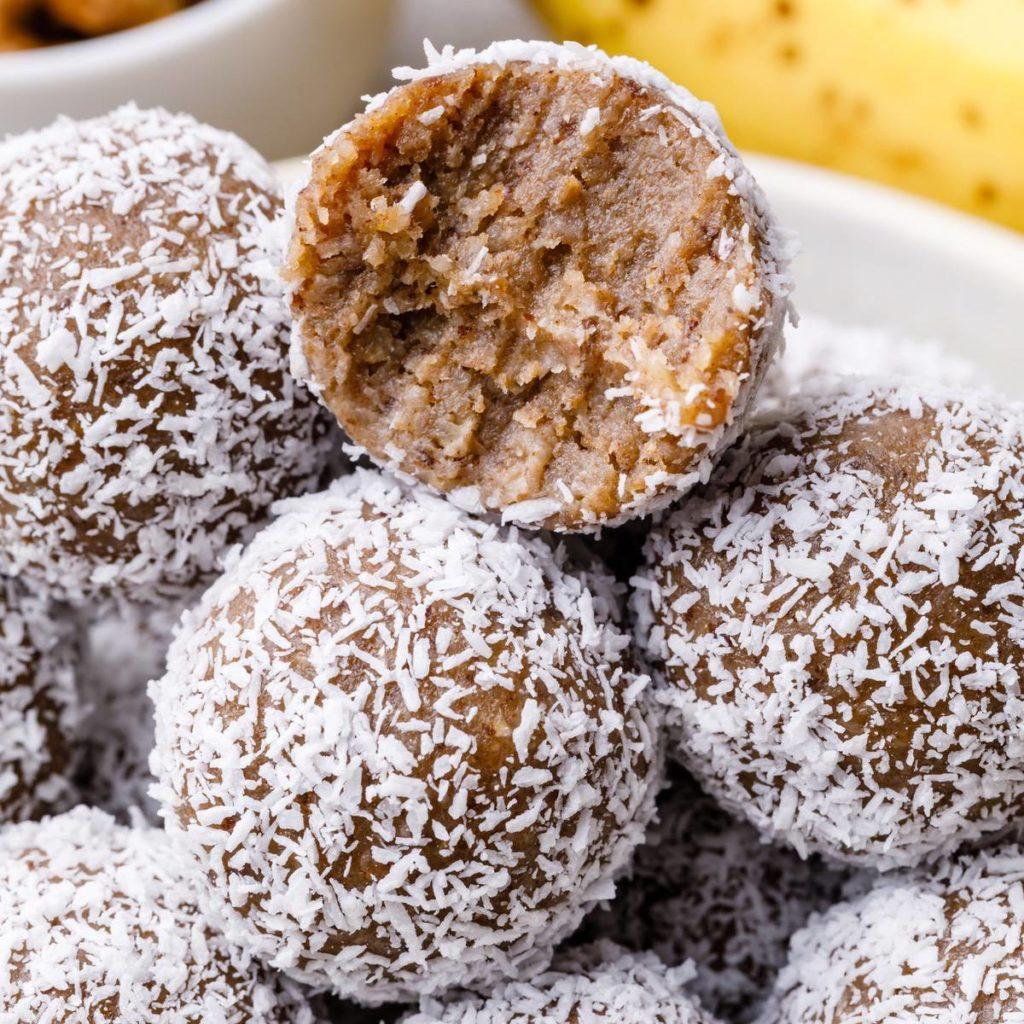 paleo banana muffin energy balls