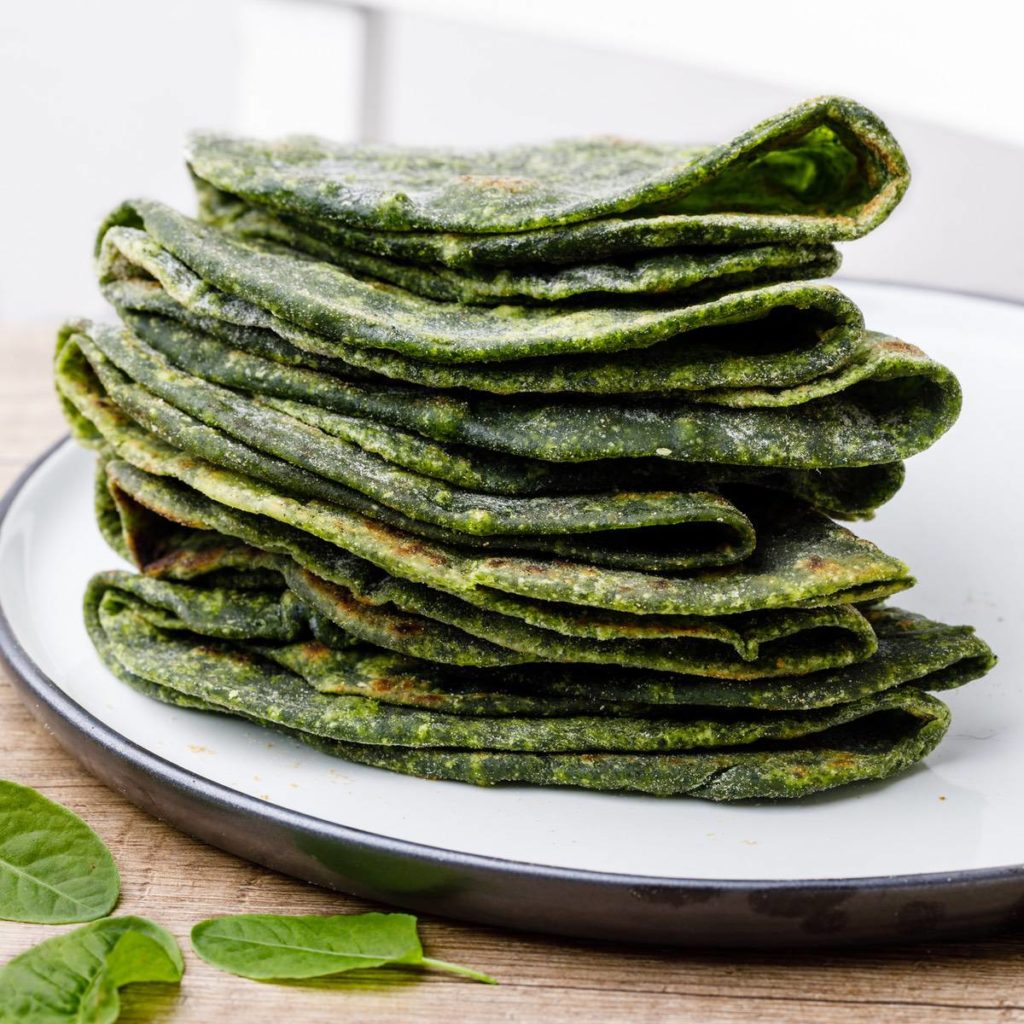 Paleo Spinach Tortillas