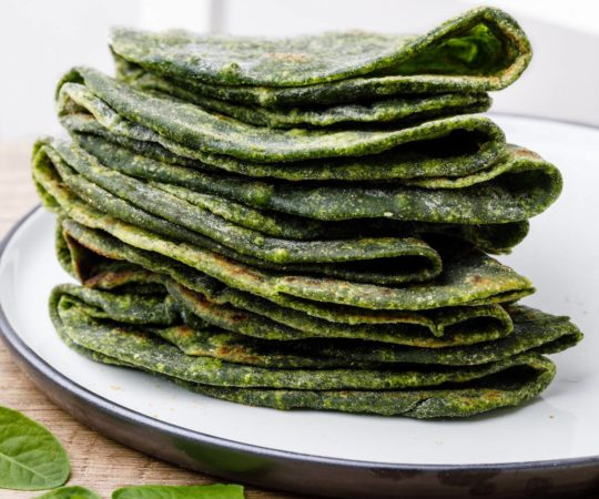 Paleo Spinach Tortillas