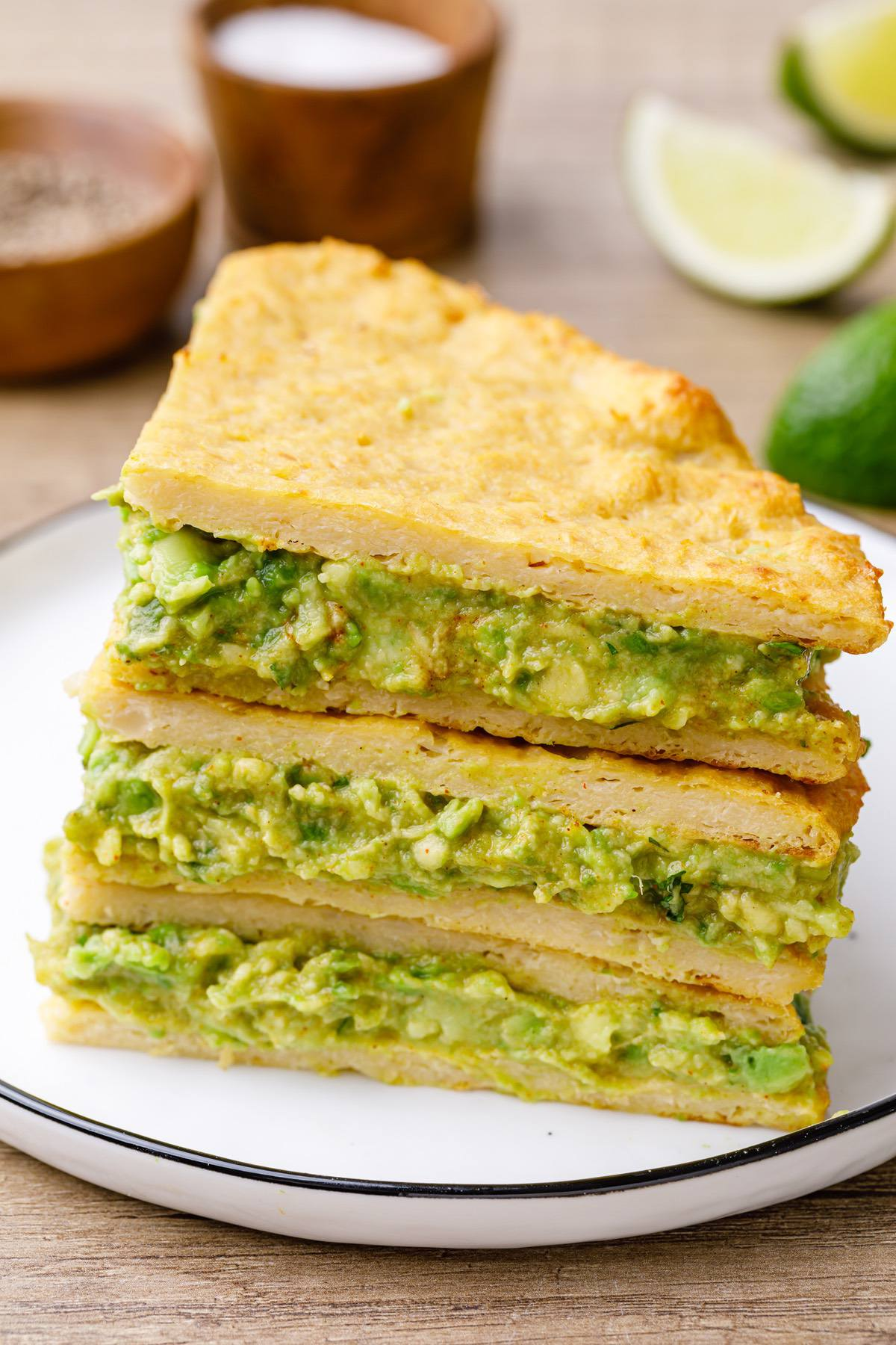 avocado cauliflower quesadillas