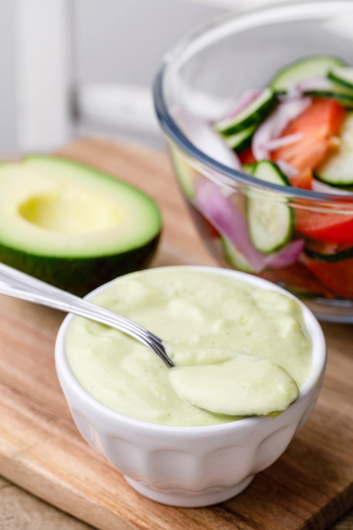 Home.fit avocado-vinaigrette-3 Easy 4-Ingredient Avocado Vinaigrette - Paleo Grubs