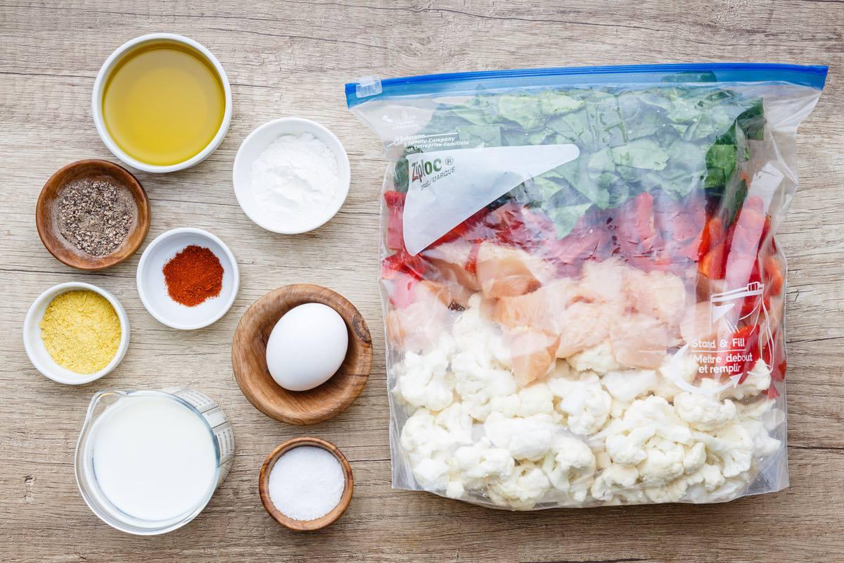 creamy cauliflower skillet dump dinner