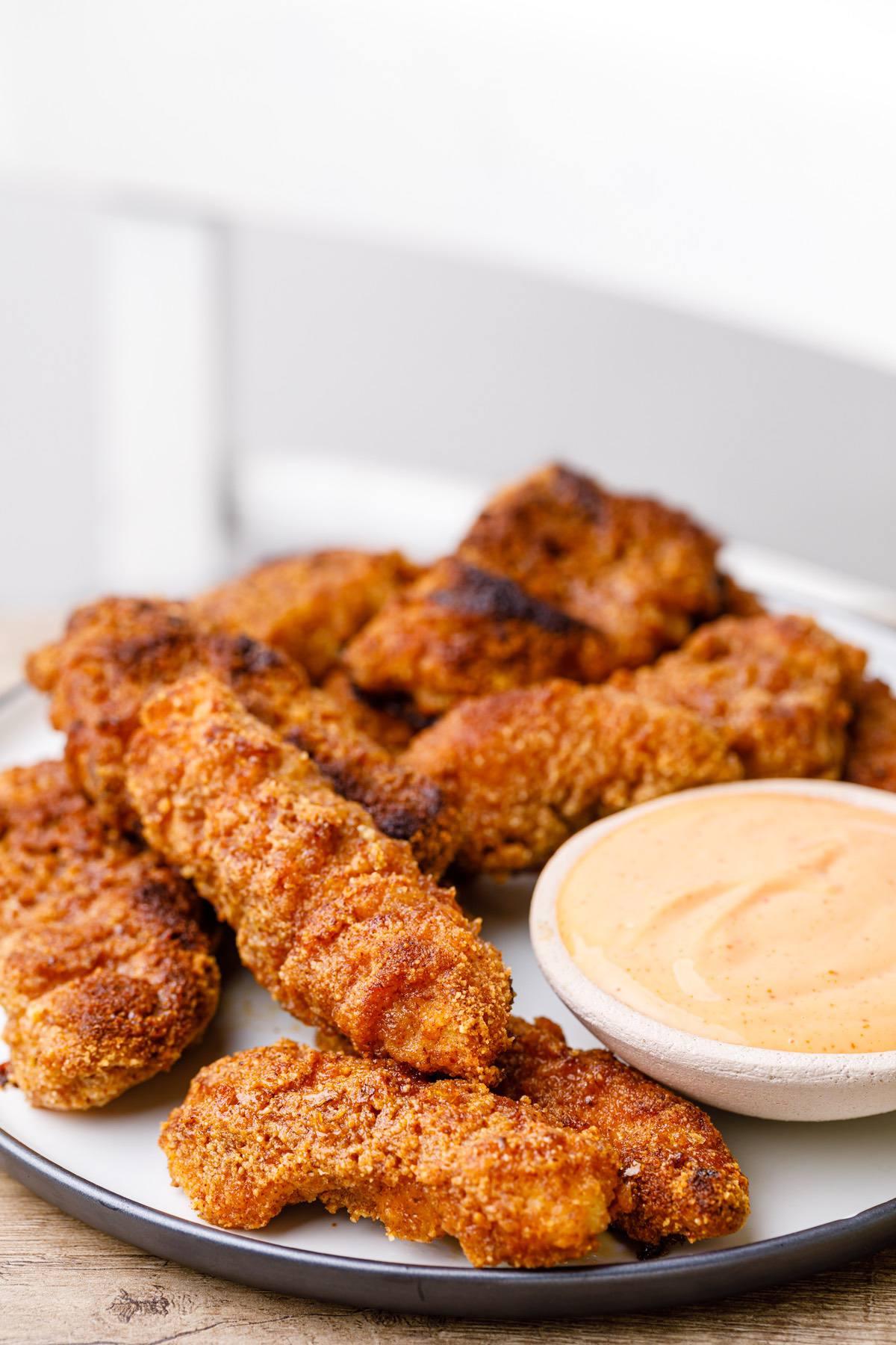 honey garlic chicken fingers