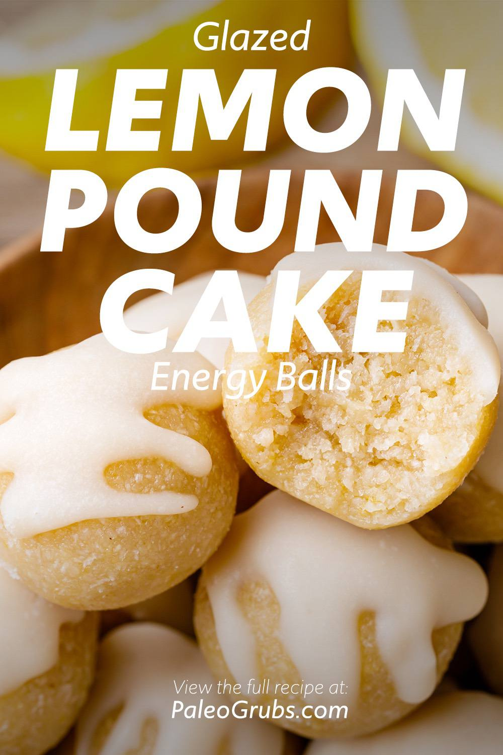 Lemon Pound Cake Energy Balls