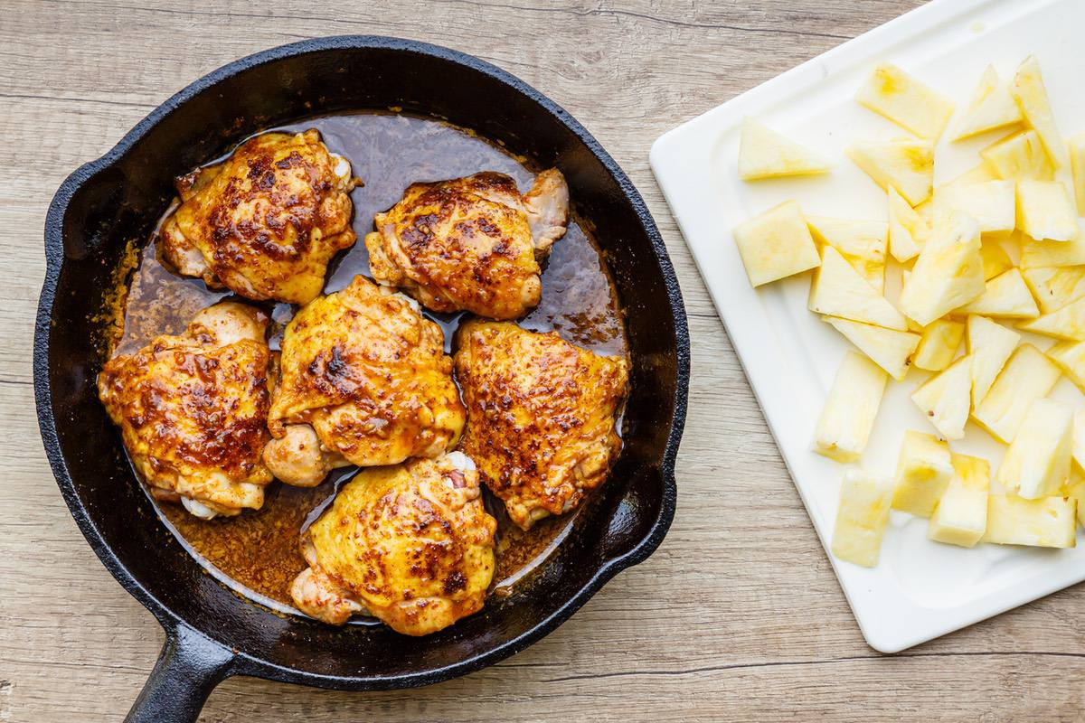pineapple chicken skillet