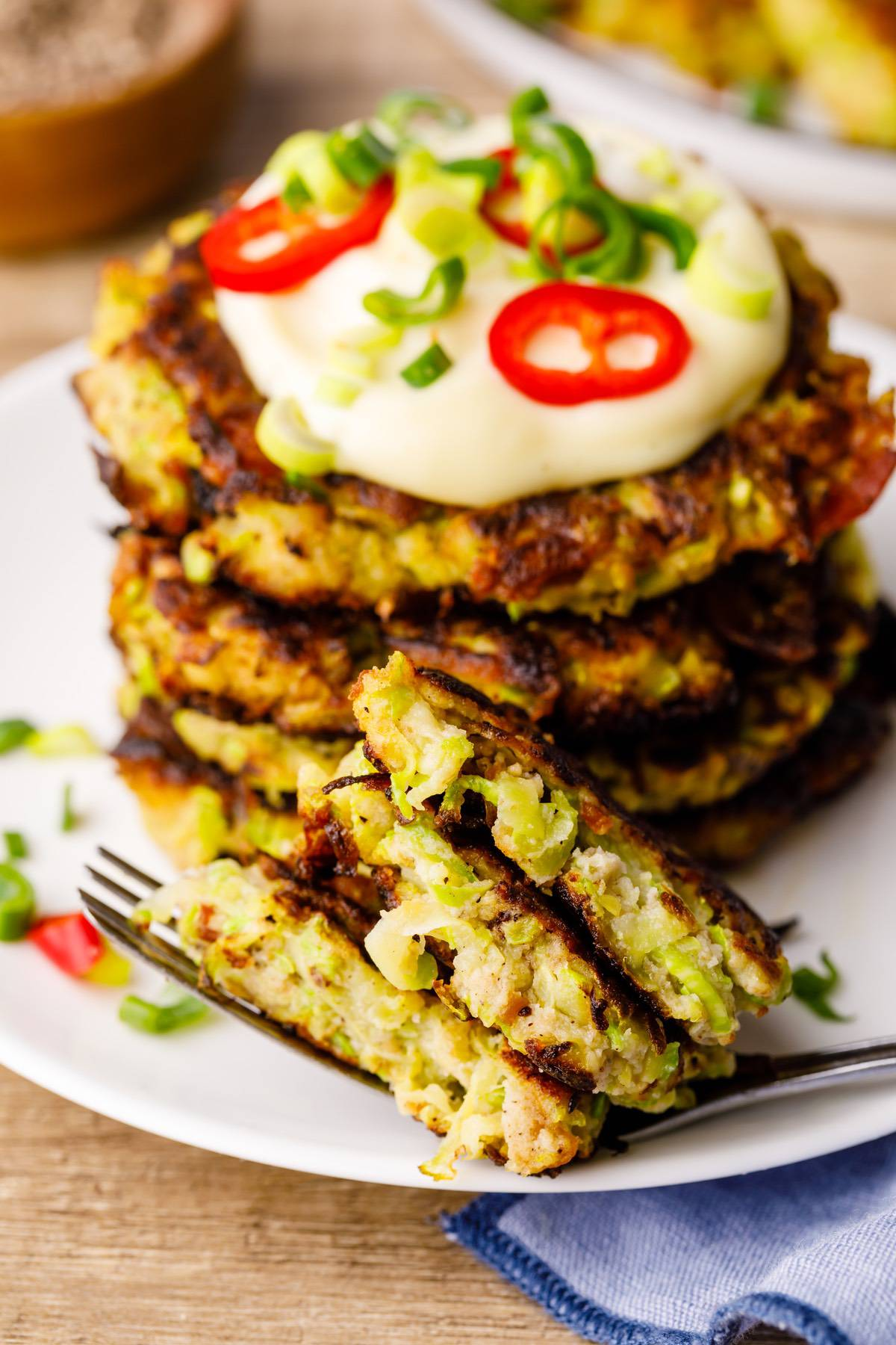 Bacon Zucchini Fritters