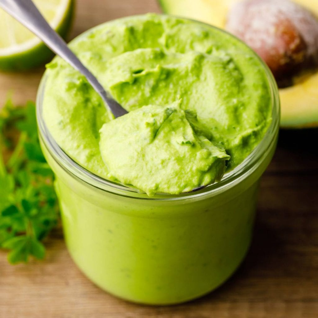 Cilantro Lime Dairy Free Avocado Dressing