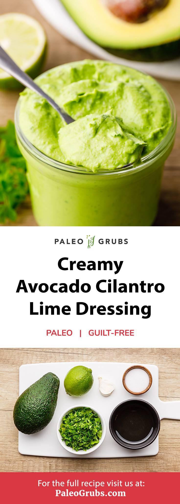 Home.fit cilantro-lime-dairy-free-avocado-dressing Creamy Avocado Cilantro Lime Dressing (Dairy-Free)