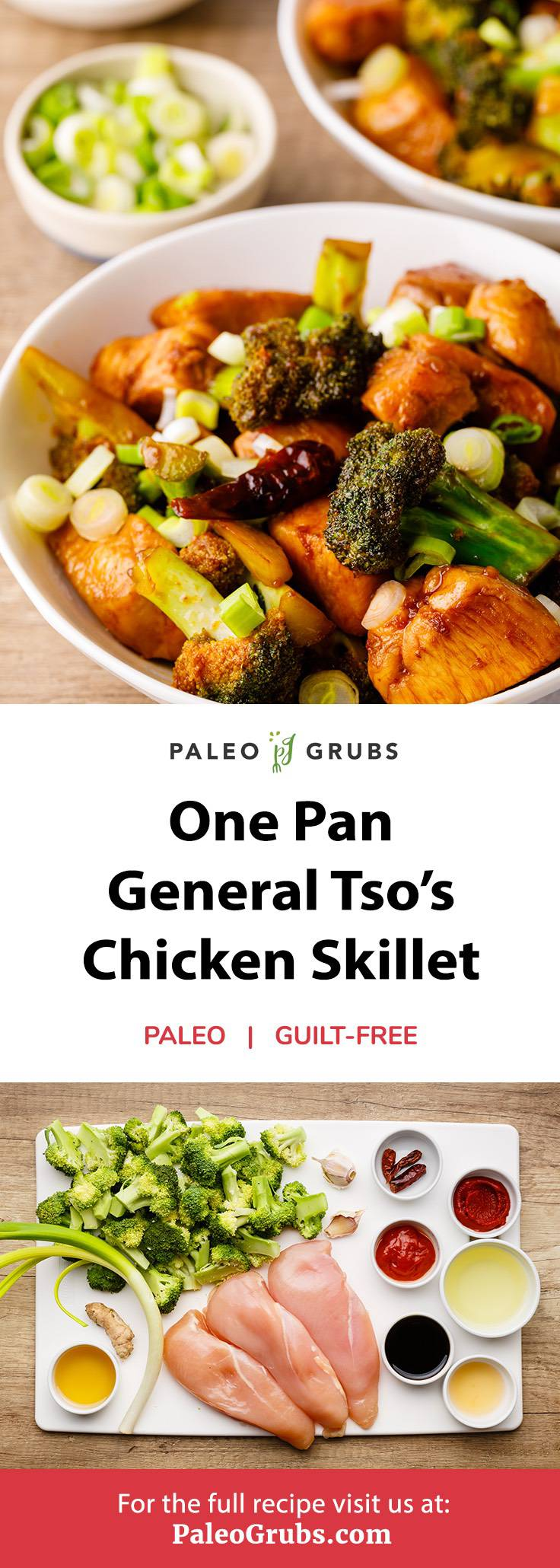 Home.fit general-tsos-chicken-skillet One Pan General Tso's Chicken Skillet (Healthy Copycat)