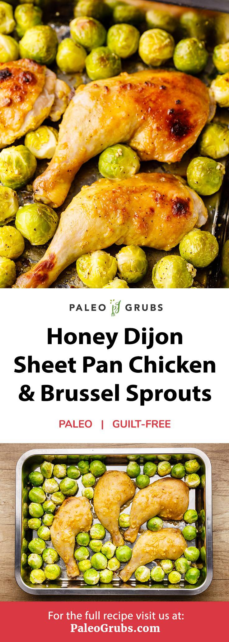 Home.fit honey-dijon-sheet-pan-chicken Honey Dijon Sheet Pan Chicken with Garlic Roasted Brussels Sprouts