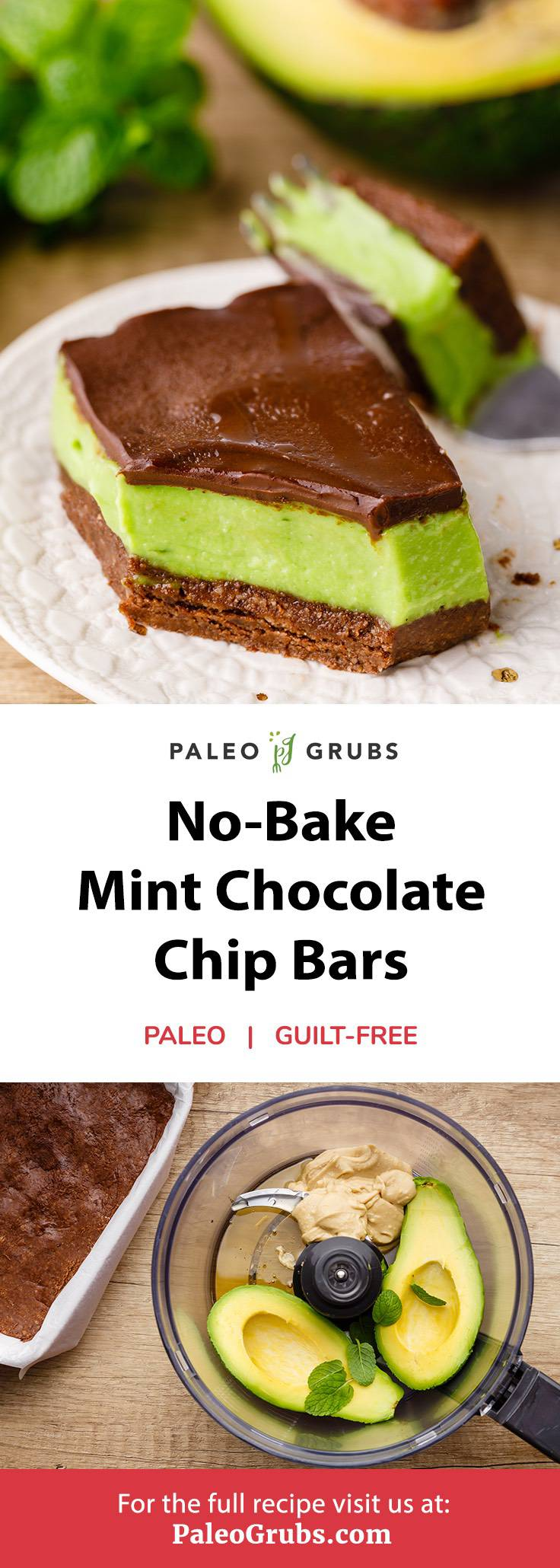 Home.fit mint-chocolate-chip-bars No-Bake Mint Chocolate Chip Bars