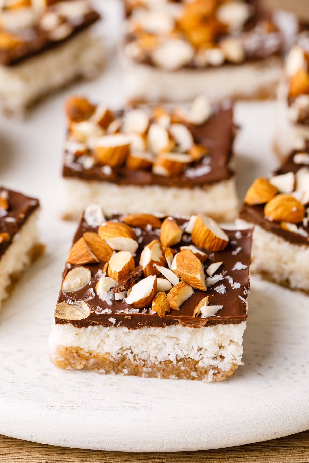 Home.fit paleo-almond-bars-7 No-Bake Salted Almond Joy Bars