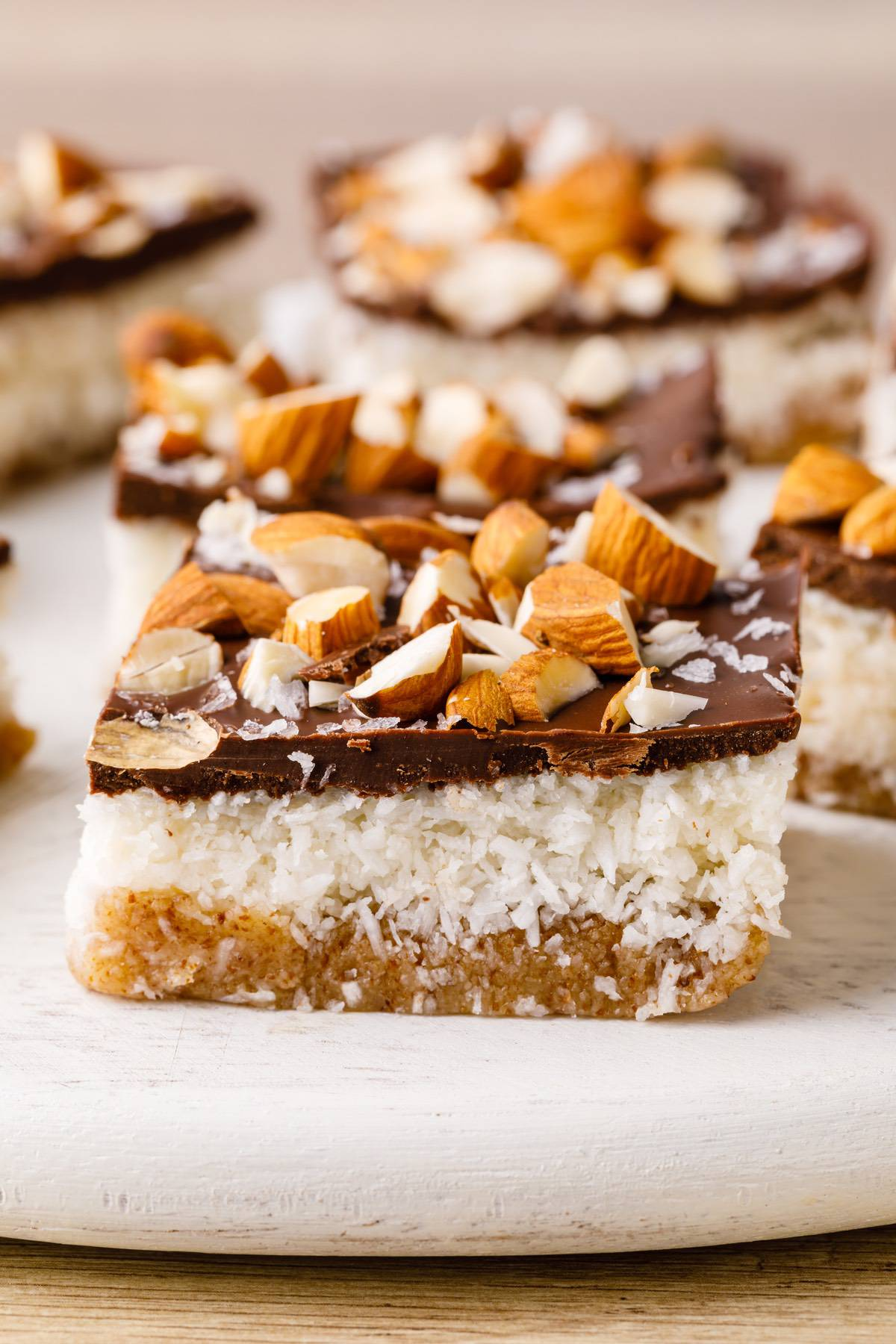 Home.fit paleo-almond-bars-8 No-Bake Salted Almond Joy Bars