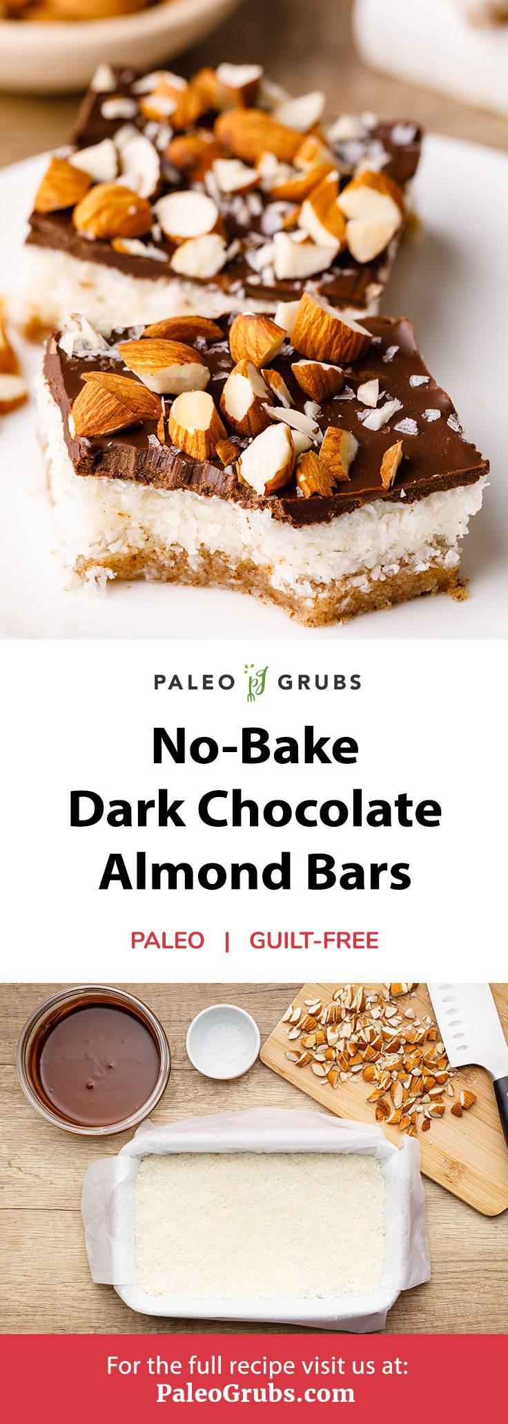 No-Bake Salted Almond Joy Bars