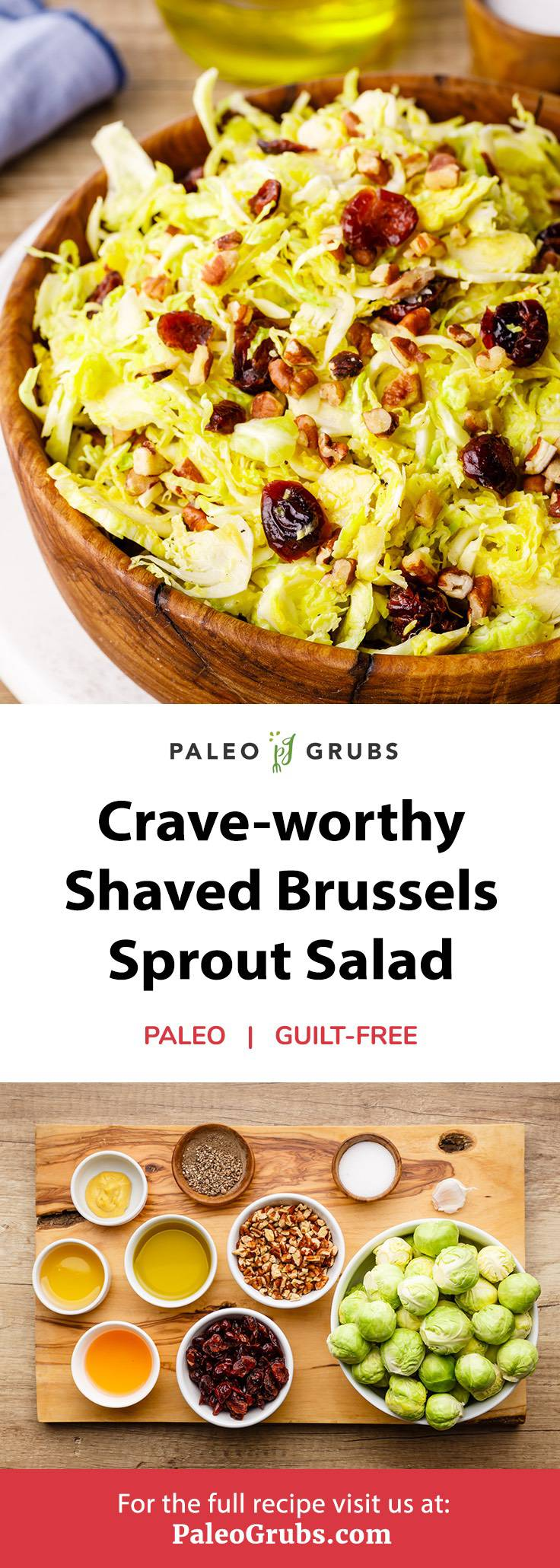 Crave-worthy Shaved Brussels Sprout Salad